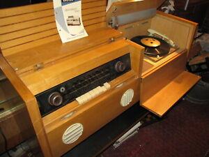 GRUNDIG Musikschrank 7080W Musiktruhe Röhrenradio PE Plattenspieler
