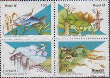 Brasilien 1829-1832 Viererblock (kompl.Ausg.) postfrisch 1981 Umweltschutz