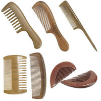 1/2pc Wood Handmade Comb Anti-Static Hair Care Brush Sandalwood/Peachwood CombLS