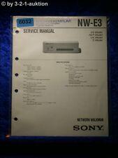 Sony Service Manual NW E3 Network Walkman (#6032)