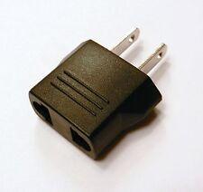 EURO EU Round Pin to USA US Flat Adapter Changer Plug