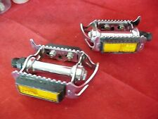 """Vintage Raleigh 501 Quill Pedals Made In England 9/16"""" thread / Orig. Reflectors"""