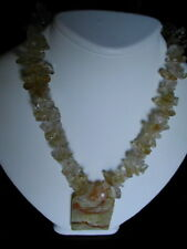 New Citrine and Jade  Necklace