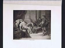 Augustus Caesar and Death of Cleopatra - Photogravure 1894