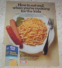 1977 print ad page - Kraft Foods Macaroni & Cheese -cooking for kids- VINTAGE AD