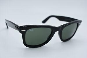 Ray-Ban Sunglasses RB 2140 901 Wayfarer Black Green Men Women Italy 50[]22 #3107
