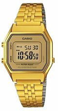 Casio Ladies Digital Day & Date Stainless Steel Watch, Gold, LA680WGA-9DF