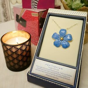 St Ann/'s Hospice Silver Plated Necklace with Large Forget Me Not Enamel Pendant