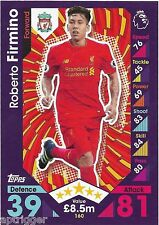 2016 / 2017 EPL Match Attax Base Card (160) Roberto FIRMINO Liverpool
