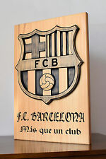 Escudo de madera FC Barcelona barsa barca FCB futbol football