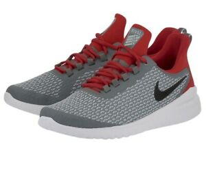 *NEW* Nike Renew Rival Cool Gray Gym Red Shoes Men's Size 11 (AA7400-004)