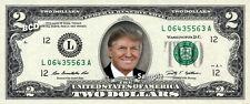 DONALD TRUMP on Colorized $2 Bill REAL Money Cash Dollar Collectible Memorabilia