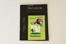 More details for world cup finals (1958) sweden v wales programme (excellent)