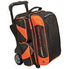 Hammer Premium Double Roller 2 Ball Bowling Bag Black/Orange