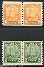 Canada Scott#160/61 Pairs Mint Hinged Full Original Gum