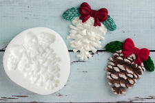 Silicone Mould, Christmas Fir Cone, Pine Cone, Bauble, Ellam Sugarcraft M148