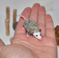 Miniature Ooak Artist Opossum Dollhouse Dolls Toy Animal opossum Gift 2""