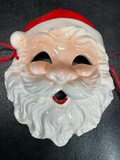 Midwest Santa Face Mask Christmas Wall Ceramic Vtg Cute Retro