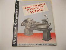 Anonimo, Tornio parallelo di precisione Gortor. Giovanni Gorgerino & C.