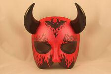 Halloween Maschera Diavolo uomo Satana Costume GRANDE BALLO IN FACCIA CORNA