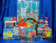 Pokemon Party Set # 28 Pokemon Party Pieces Tablecover PLates Napkins