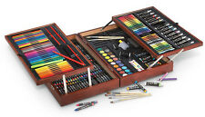 Art Drawing Wood Deluxe Portable Painting Travel Art Craft Case 215Pc Set Kit