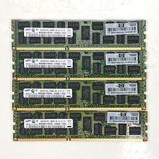 Lot of 4 x 4GB= 16GB HP 500203-061 Samsung 2Rx4 PC3-10600R-9 M393B5170FH0-CH9Q5