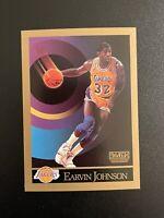 1990 1991 Skybox MAGIC JOHNSON #138 Los Angeles Lakers Basketball Card PSA Ready
