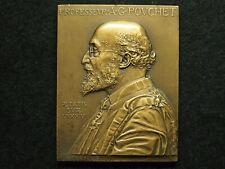 PLAQUE BRONZE G.PRUD'HOMME MEDECINE - au Professeur A.G.POUCHET 1885 - 1935
