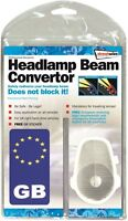 Euro Headlamp Light Beam Convertors & GB sticker for Continental and UK Driving