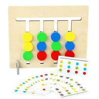 Wooden Four-Color Fruit Logic Game Children Kids Early Educational Toys Set