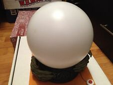 ANIMATED GLOWING WITCH FORTUNE TELLER CRYSTAL BALL ORB LIGHTS TALKS GYPSY PROP
