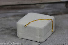 NEW 24K Yellow Gold Extended Foxtail Link Chain / 3cm Length