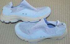 Womens size 6 L L Bean slip On mesh and leather shoes blue casual comfort