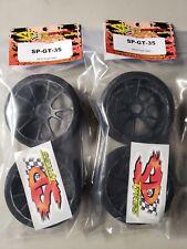 Sp Foam Tires Gt 35 Shore Full Set (4) RC DRAG RACING 17MM HEX Wheels & Foams