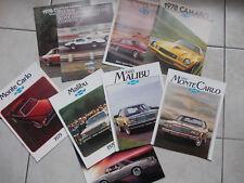 LOT de 8 catalogues voiture americaine CHEVROLET avec corvette camaro
