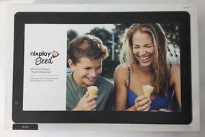 Nixplay Seed, 10 Inch Digital Photo Cloud Frame, WiFi App Controlled BNIB