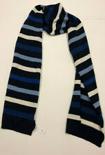 Nwt Mens Gap Navy Crazy Stripe Scarf