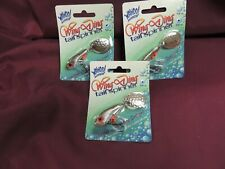 wahoo 3/4 oz wing ding tail spinners 3 pcs silver shad