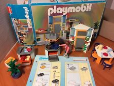 PLAYMOBIL 3968 Modern House KITCHEN frig food w/Box & Instructions 100% COMPLETE
