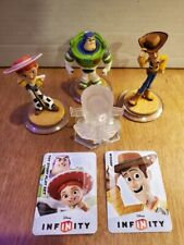 Disney Infinity 1.0 Toy Story set - 3 figures, crystal Buzz, Woody, Jessie loose