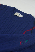 Pringle Sports Wool Jumper Mens Size L Large Cable Knit Vintage Sweater Scotland