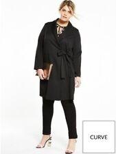 Fashion Union Curve Tuxedo Jacket Size UK 18 Black rrp £35 DH077 CC 21