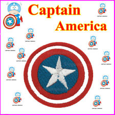 New DIY SUPER HERO Captain America Embroidered Patch Applique Badge Iron on Sew