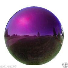 "6"" Stainless Steel Purple Gazing Ball GlobeVCS PRP06"