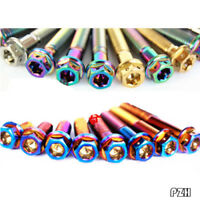 M12 Titanium Axis Axle Roller with Nuts Refitted Motorcycle Electrombile 1pcs