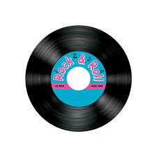 8 ct Fabulous 50's Rock n Roll Music Record Album  DRINK COASTERS Birthday Party
