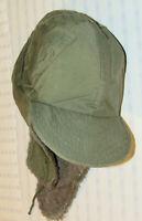 VINTAGE 1952 KOREAN WAR M-1951 FIELD CAP/HAT! ALPACA WOOL LINING/VISOR/EAR FLAPS