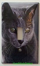 Azul Ruso Cat Light Switch Power Duplex Outlet Wall Cover Plate Home decor