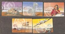 Australia: full set of 5used stamps, Australian Outback Service, 2001, Mi#2054-8